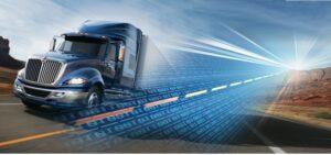 Semi Truck Telematics Data Being Analyzed